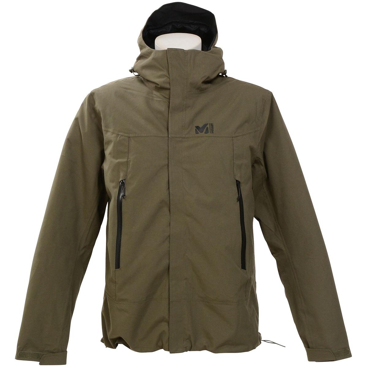 ● 【送料無料】 MILLET (ミレー) トレッキング アウトドア 厚手ジャケット アカン 3 イン 1 ジャケット メンズ GRAPE LEAF MIV7973 7094