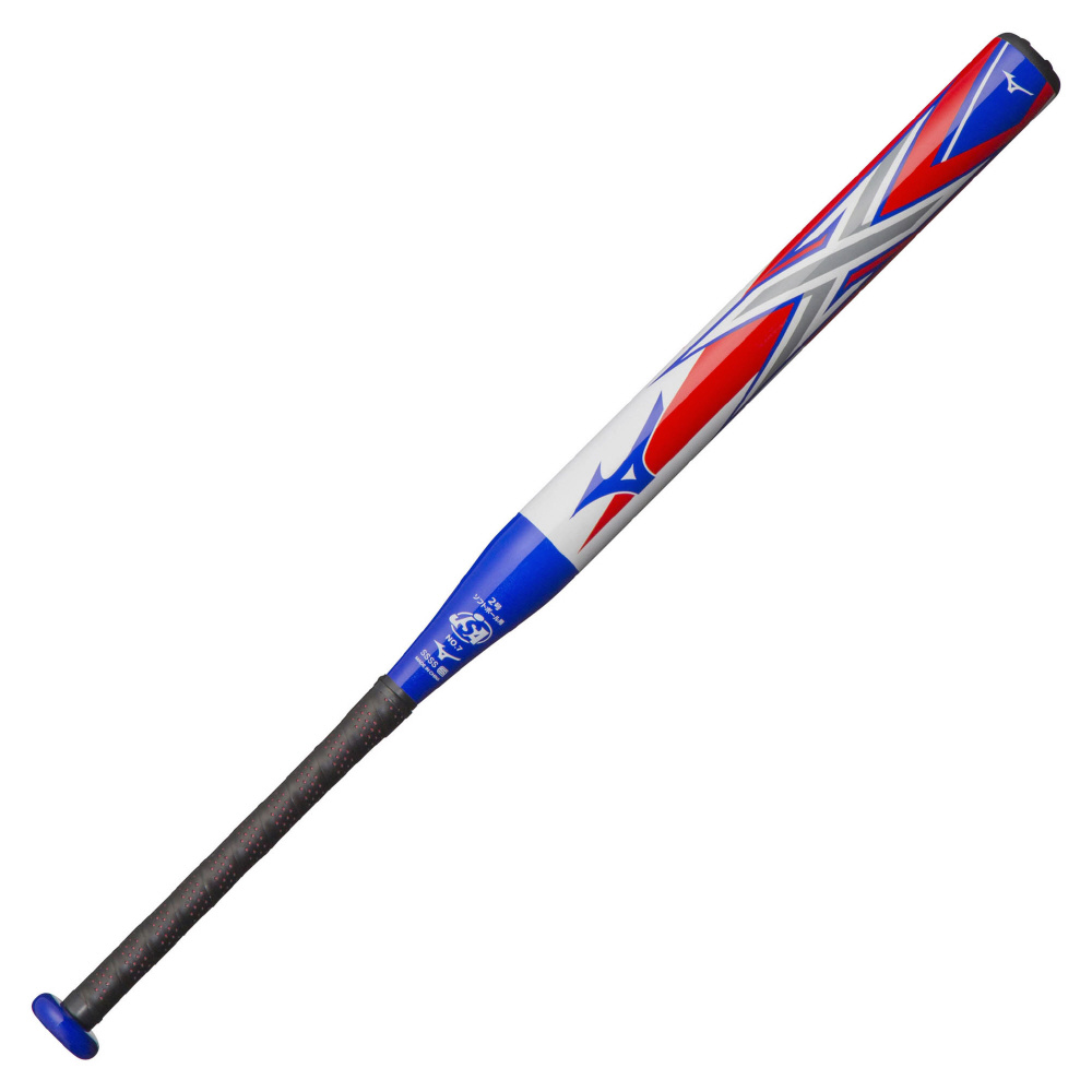 ● 【送料無料】 MIZUNO (ミズノ) 野球 少年ソフトボールバッド 2ゴウX ボーイズ ホワイト×ブルー 1CJFS61378 0127