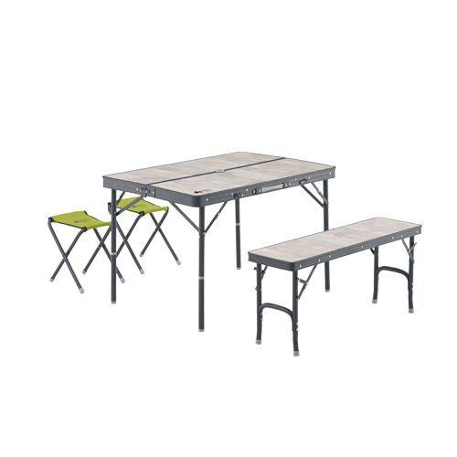 【送料無料】 LOGOS (ロゴス) キャンプ用品 ファミリーテーブル ROSY ファミリーベンチテーブルセット 73189057
