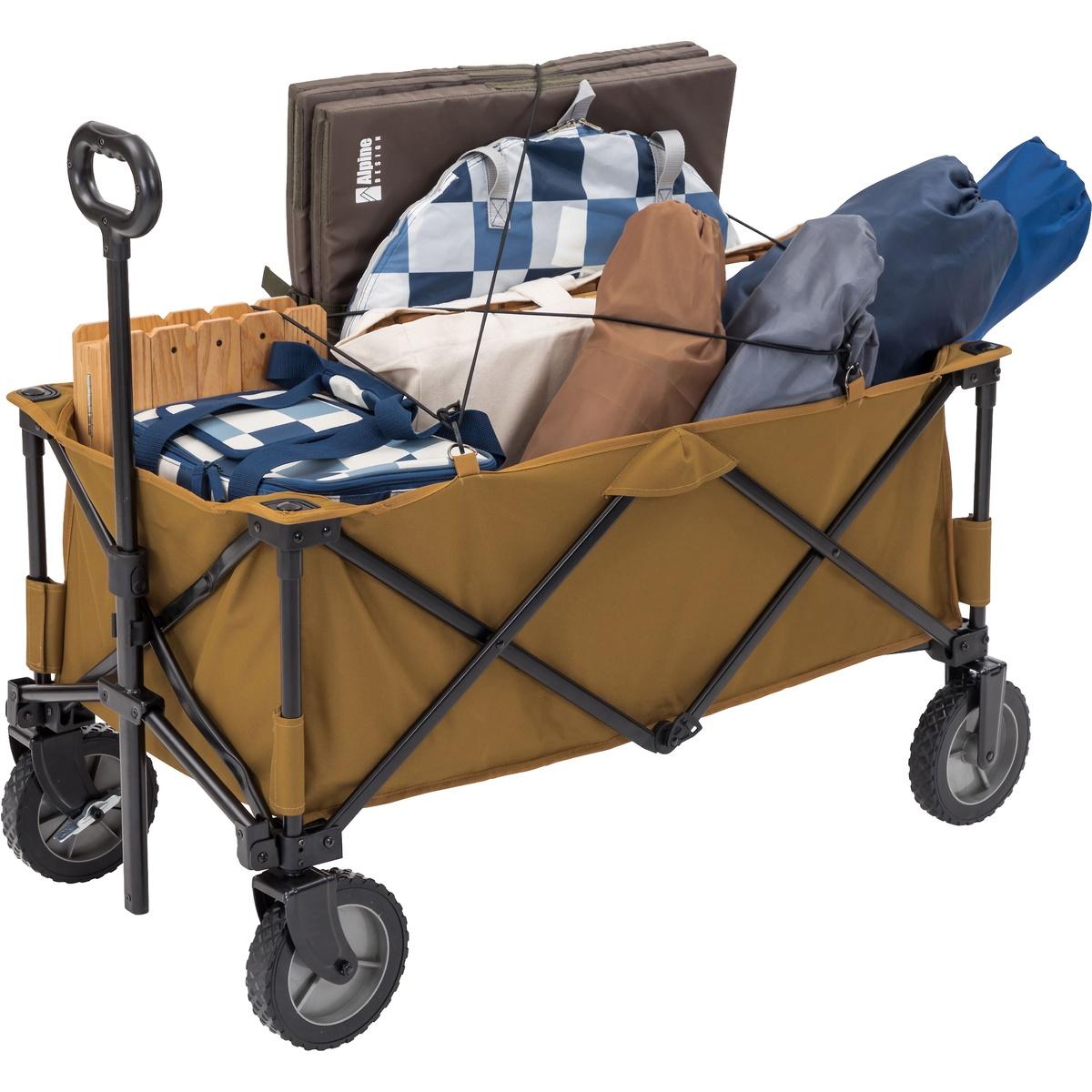 アルパインデザイン キャンプ用品 物品 キャンピングアクセサリー キャリーワゴン 人気ブランド DESIGN Alpine コヨーテブラウン AD-S19-015-056