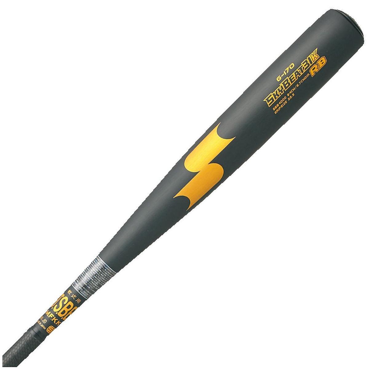 【送料無料】 SSK (エスエスケイ) 野球 軟式メタルバッド ナンシキキンゾクBAT スカイビートKRB ブラック*GD SBB4000