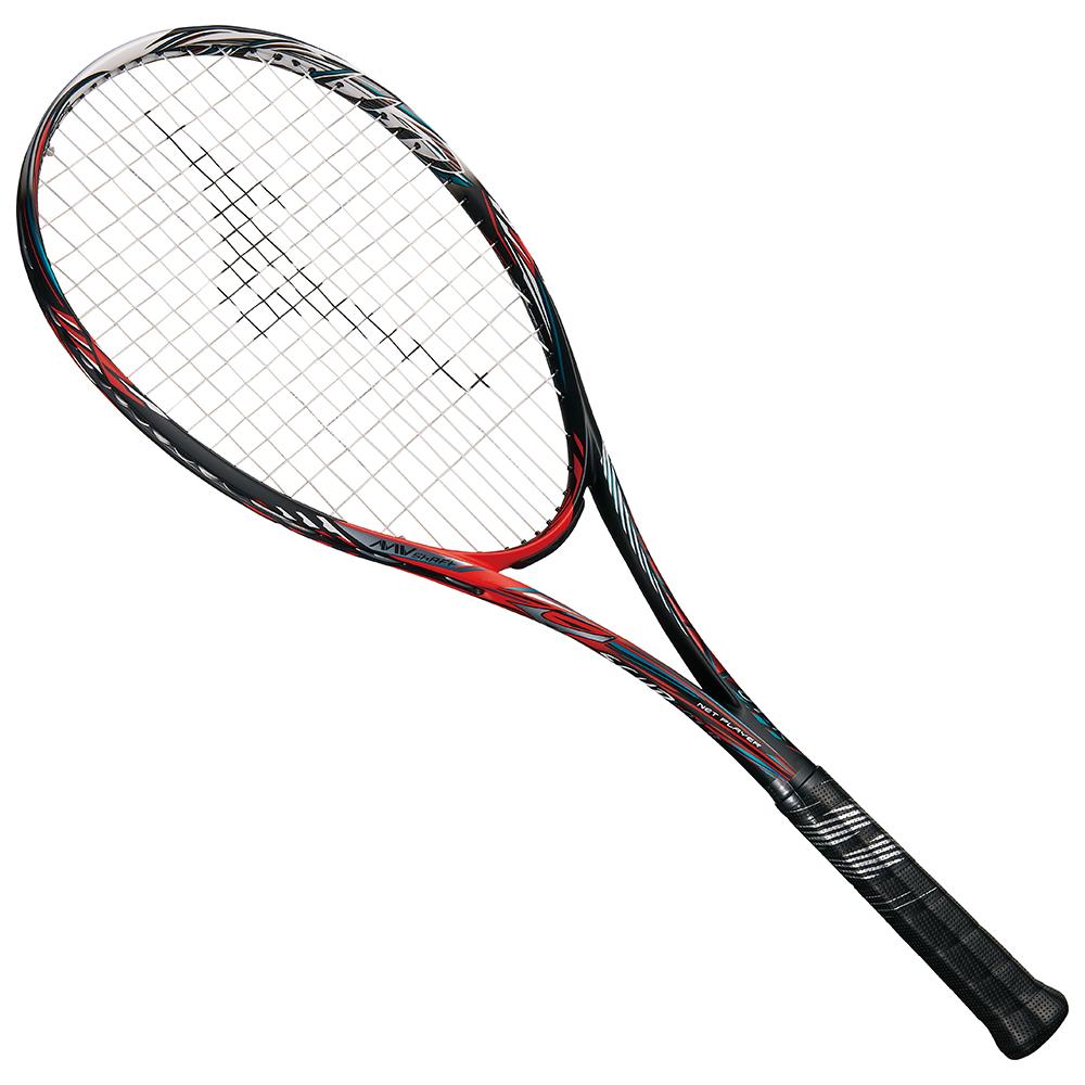 【送料無料】 MIZUNO (ミズノ) 【フレームのみ】ソフトテニス フレームラケット SCUD 01-R(スカッド01アール) 62:ソリッドブラック×バーニングレッド 63JTN95362