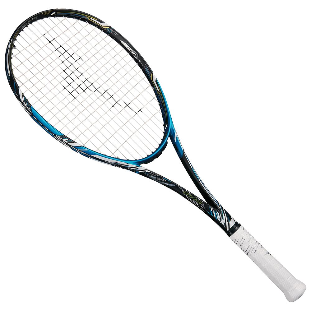 【送料無料】 MIZUNO (ミズノ) 【フレームのみ】ソフトテニス フレームラケット DIOS 10-C(ディオス10シー) 27:ソリッドブラック×ネオアクア 63JTN96427