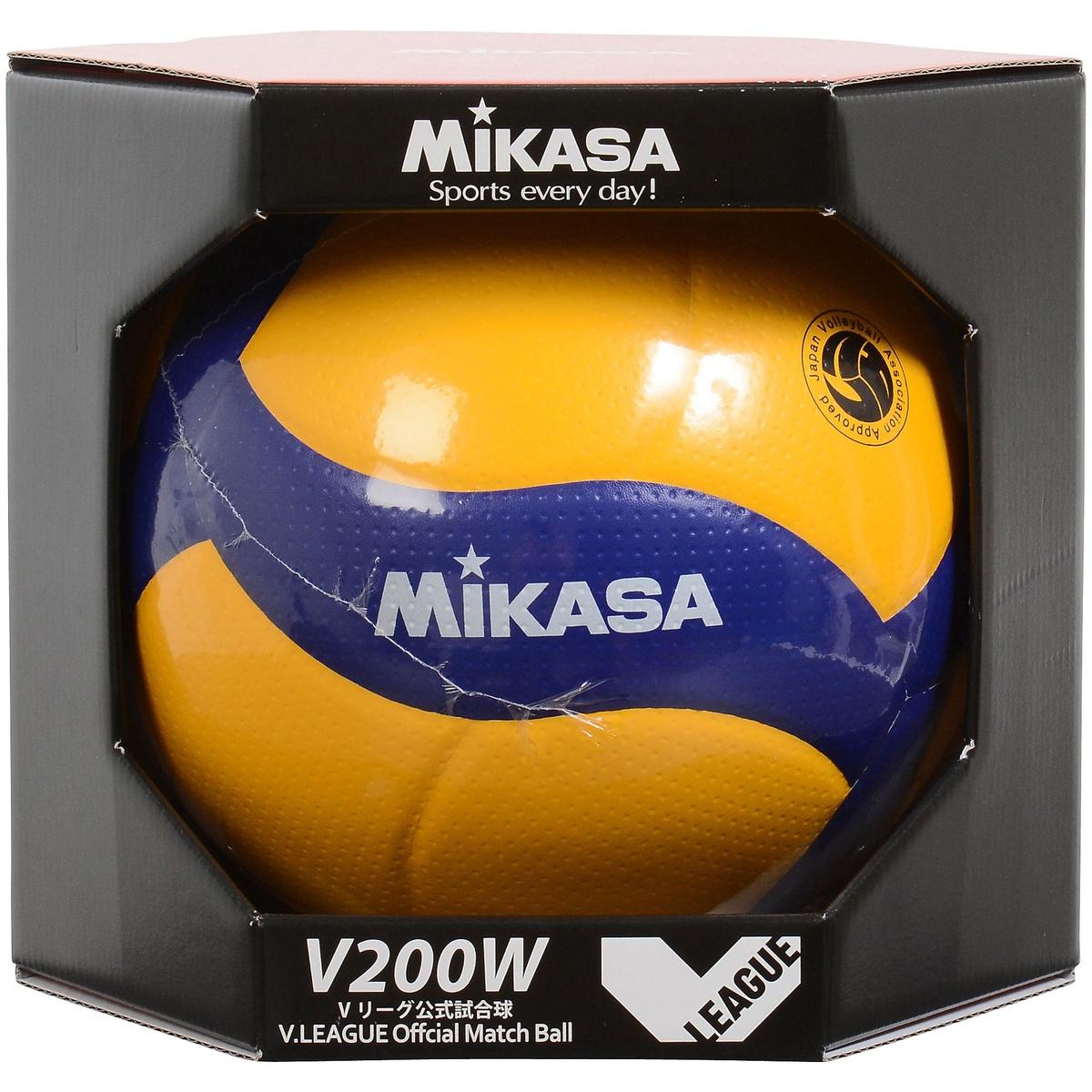 【送料無料】 MIKASA (ミカサ) バレーボール 5号ボール バレー5号 国際公認球 黄/青 5 V200W