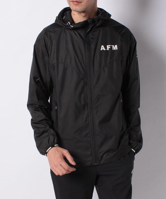 ATHFORM(アスフォーム) ランニング メンズウェア ウインドジャケット メンズ ブラック AF-F19-008-023