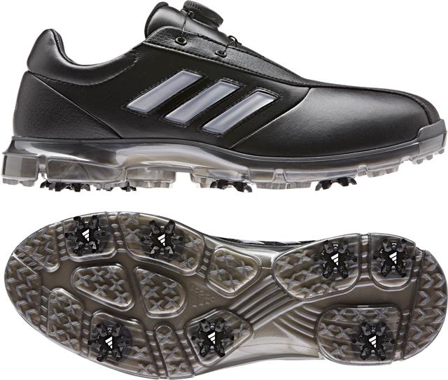 ● 【送料無料】 adidas (アディダス) ゴルフ メンズゴルフシューズ アルファフレックス ボア メンズ コアブラック/シルバーメタリック/ダークシルバーメタリック CEZ98-G26007