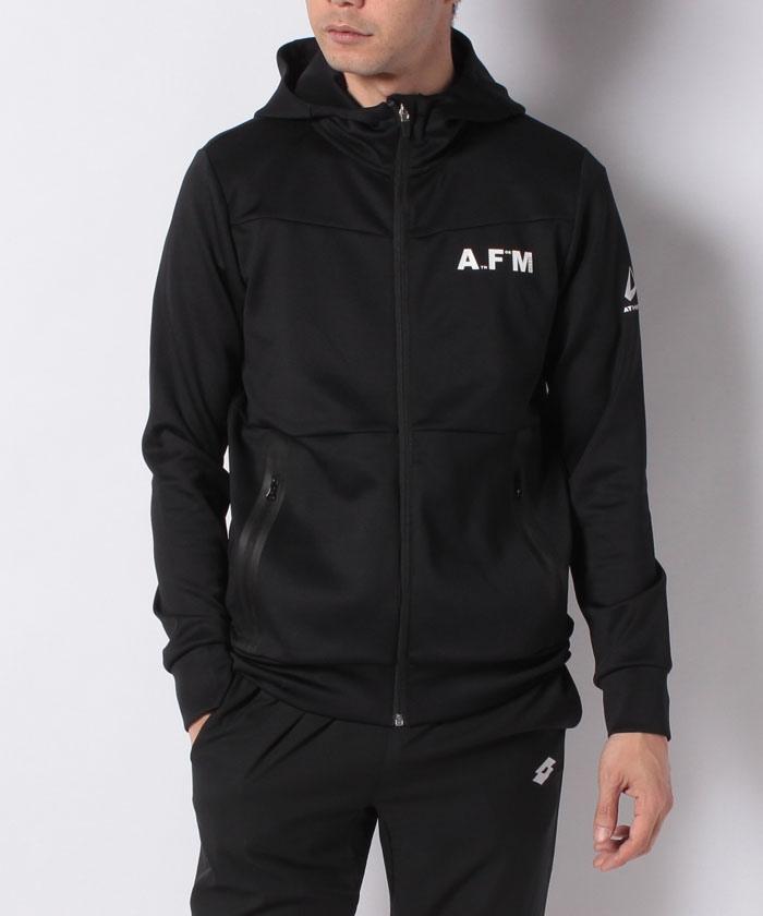 ATHFORM(アスフォーム) ランニング メンズウェア スウェットフードジャケット メンズ ブラック AF-F19-008-069