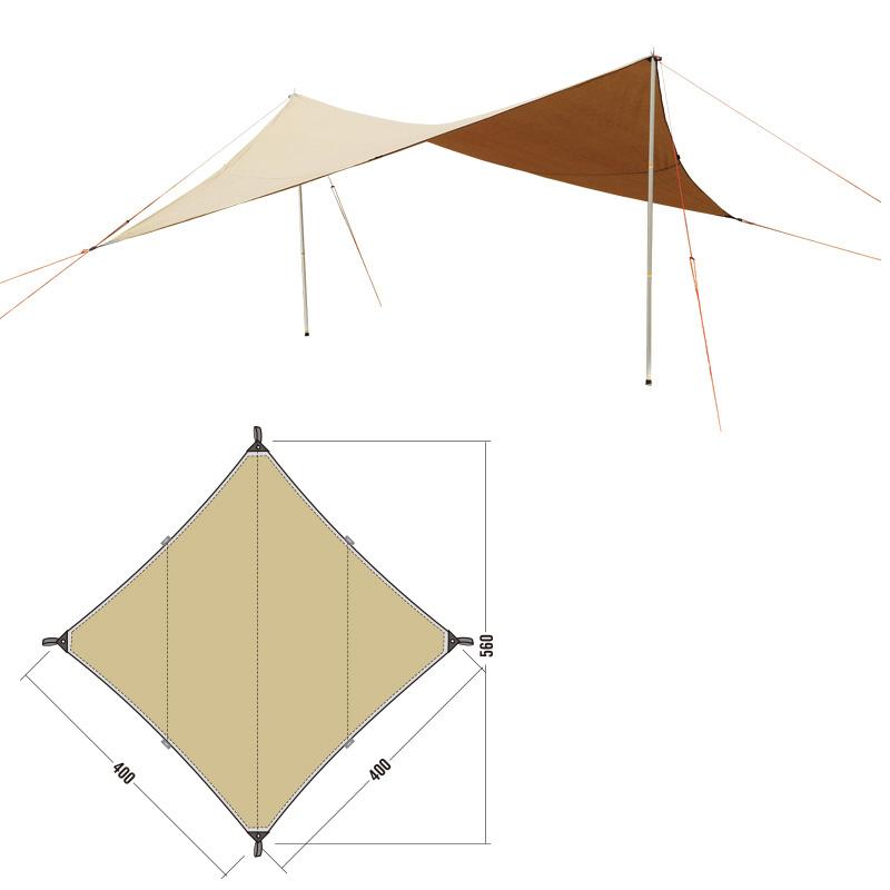 ● 【送料無料】 EVERNEW (エバニュー) キャンプ用品 ソロ その他タープ TARP TC3 ECQ203