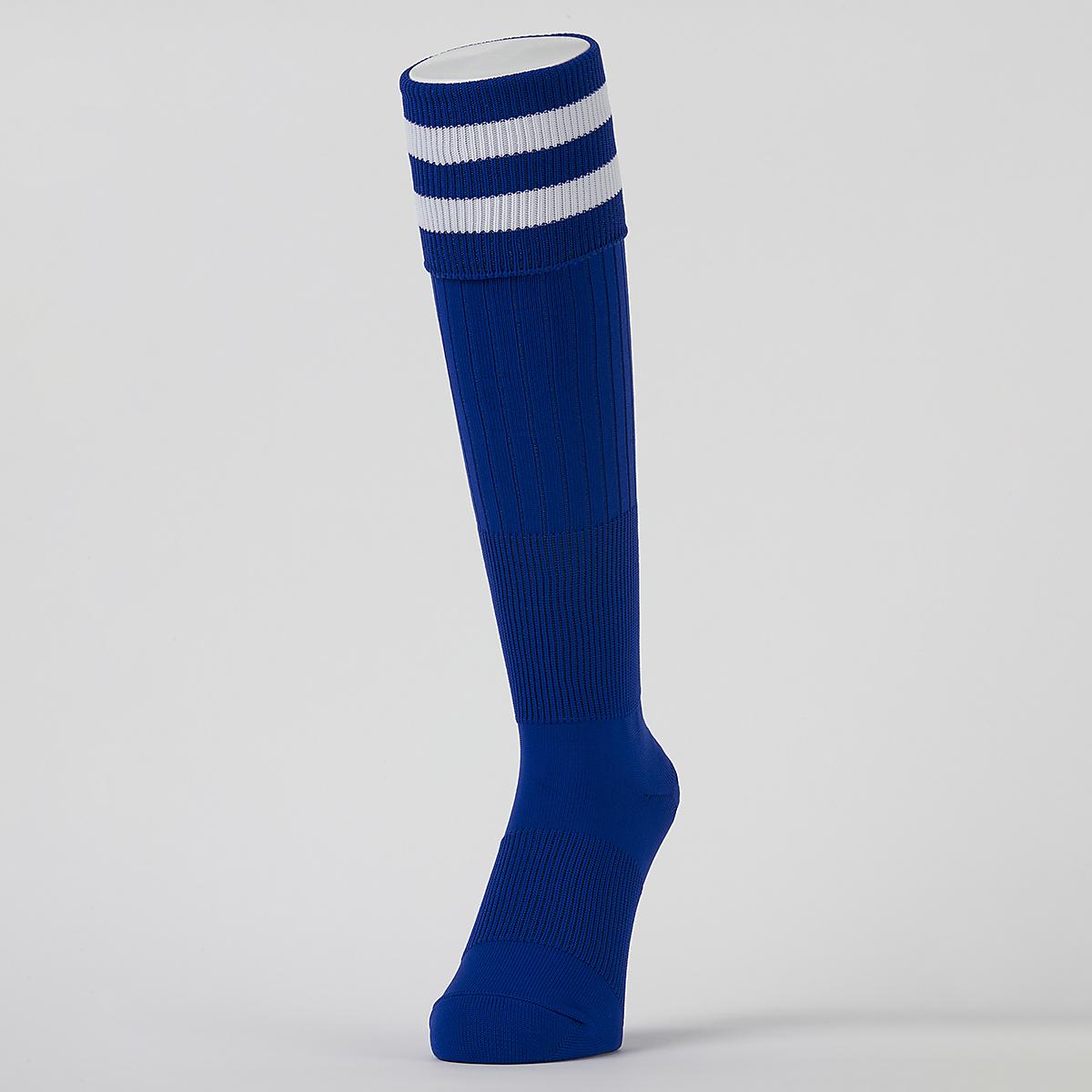 エスエーギア サッカー ジュニアストッキング 2ラインソックス 2224 s.a.gear ホワイト 22-24 商舗 最新アイテム SA-Y19-002-007 ジュニア ブルー