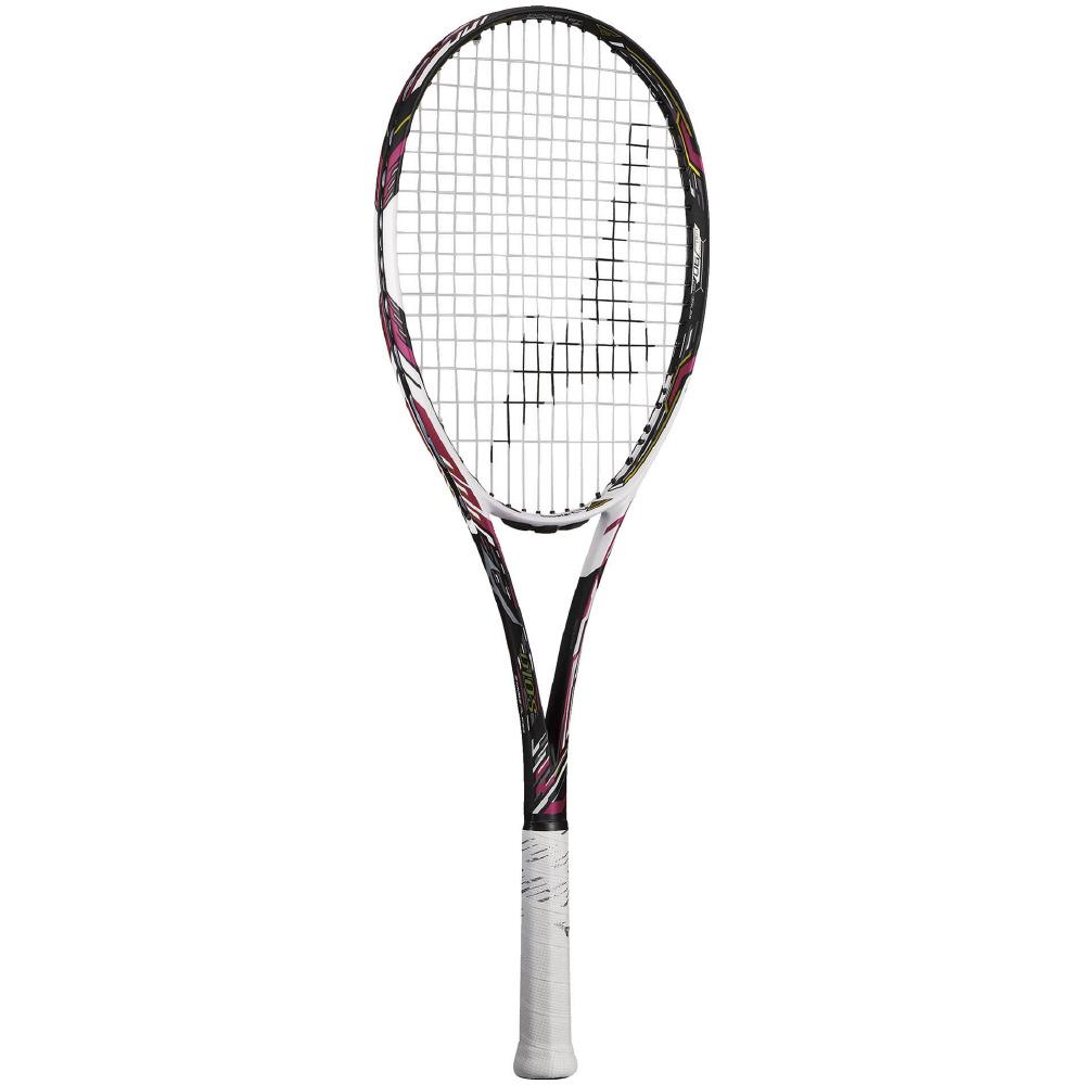 ● 【送料無料】 MIZUNO (ミズノ) 【フレームのみ】ソフトテニス フレームラケット DIOS 50-C(ディオス50シー) 64:ソリッドブラック×ブライトマゼンタ 63JTN06664