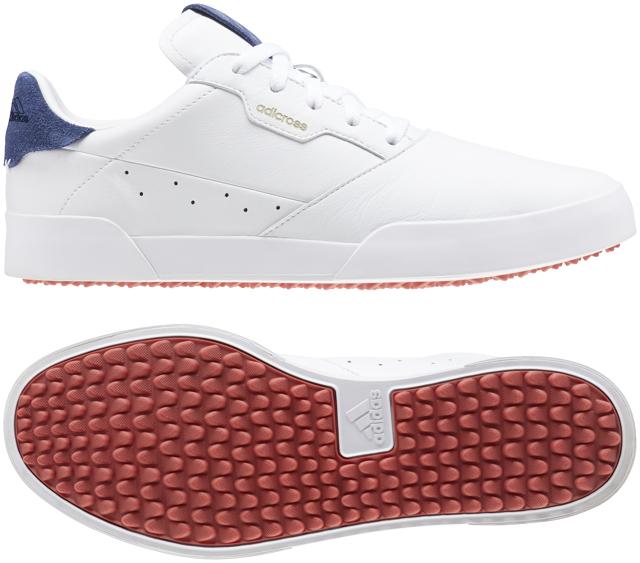【送料無料】 adidas (アディダス) ゴルフ メンズゴルフシューズ アディクロス レトロ メンズ ホワイト/シルバーメタリック/テックインディゴ EPC40-EE9164