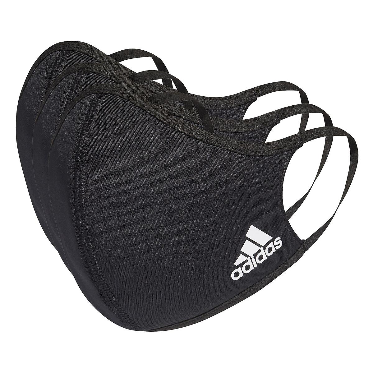 アディダス スポーツアクセサリー 雑貨 フェイスカバー 3枚組 M L Face 3-Pack ブラック KOH81 adidas NS 全品送料無料 安全 H08837 Covers