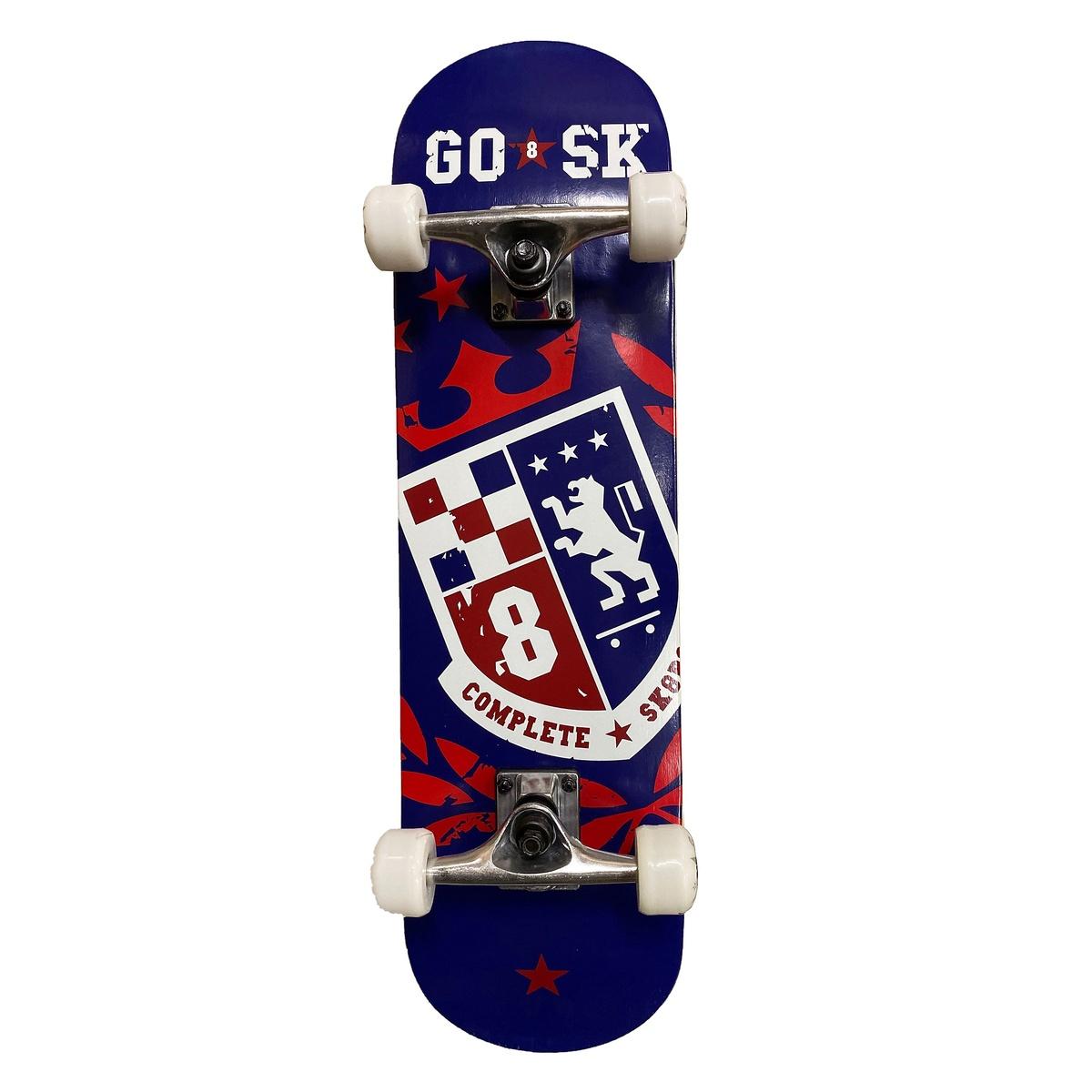 ホイール エクストリーム スケートボード GOSK8 28インチスケートボード GOSK8 再入荷/予約販売! 買い物 レッド W ネイビー 28インチスケートボード 28