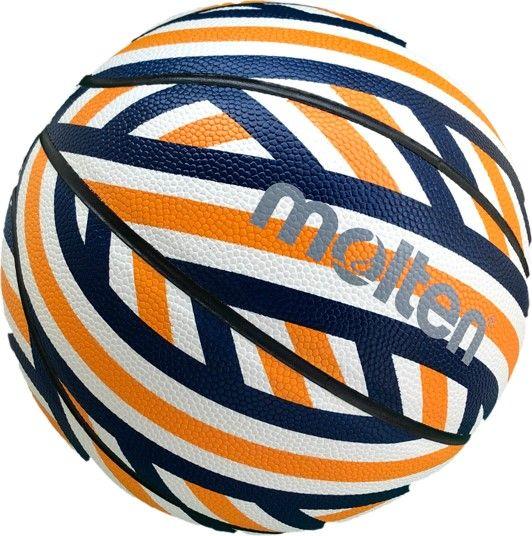 モルテン バスケットボール 高品質 5号ボール グラフィックレンジ 3RD 5号オレンジ×ネイビー molten 5号 オレンジ ジュニア メーカー公式ショップ B5F3602-ON MOLTEN