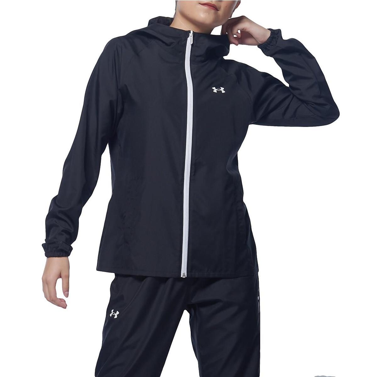 アンダーアーマー レディーススポーツウェア ウインドアップジャケット 激安通販販売 UA TEXT LOGO WOVEN UNDER HOODIE 001 新入荷 流行 レディース ARMOUR 1357904 FZ