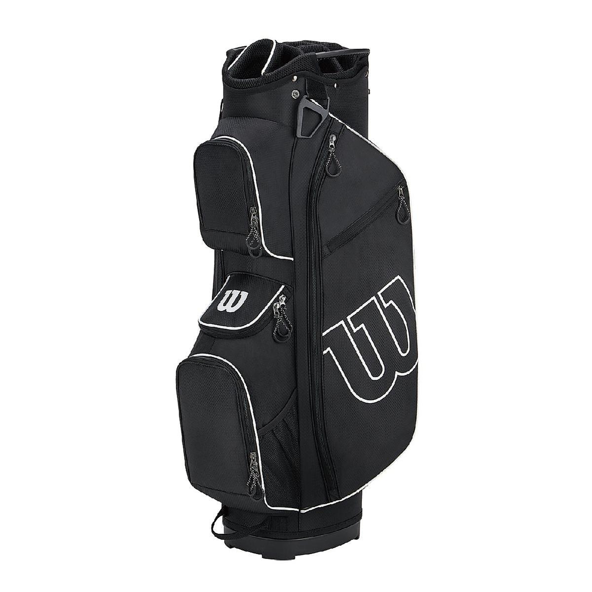 ウィルソン お求めやすく価格改定 ゴルフ メンズキャディーバッグ WGB5307 W S PROSTAFF CART WILSON BK WGB5307 ブラック ホワイト S メンズ W CART PROSTAFF 定番キャンバス