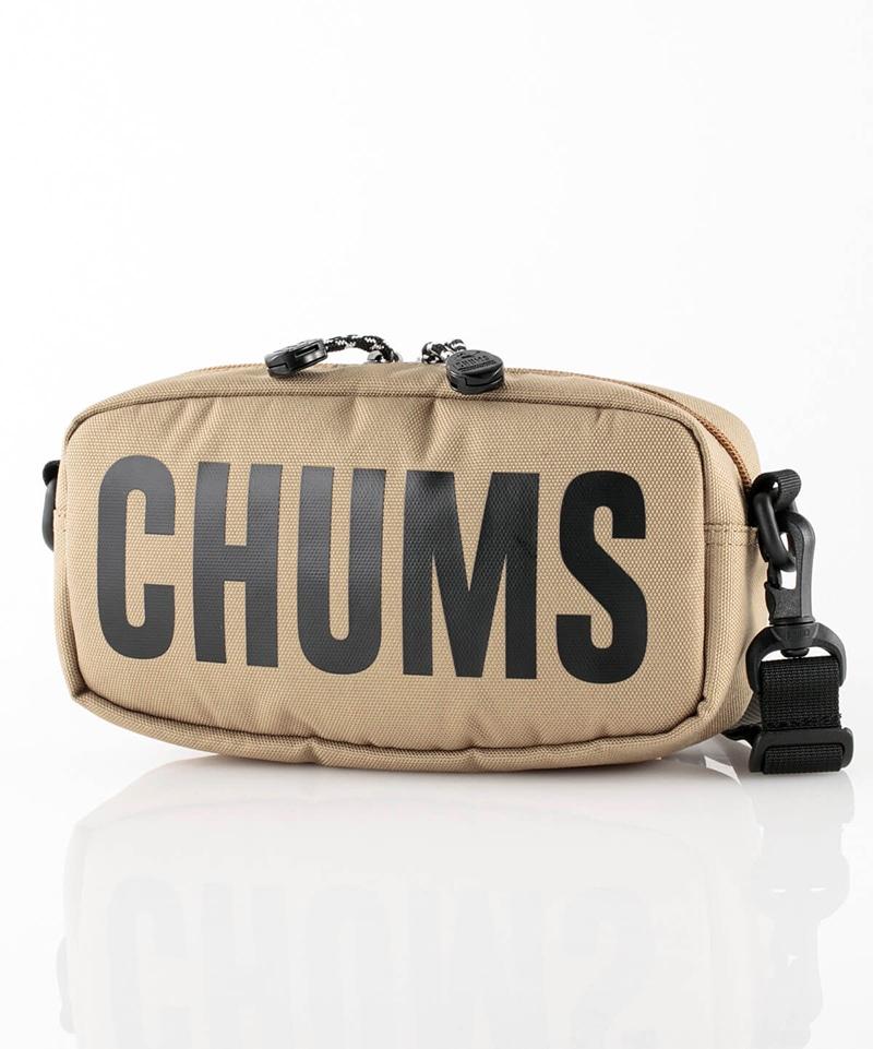 チャムス トレッキング 推奨 アウトドア ショルダーバッグ RECYCLE CHUMS セール特価 LOGO SHOULDER POUCH CH60-3117-B003 SAND FREE リサイクル ショルダーポーチ ロゴ