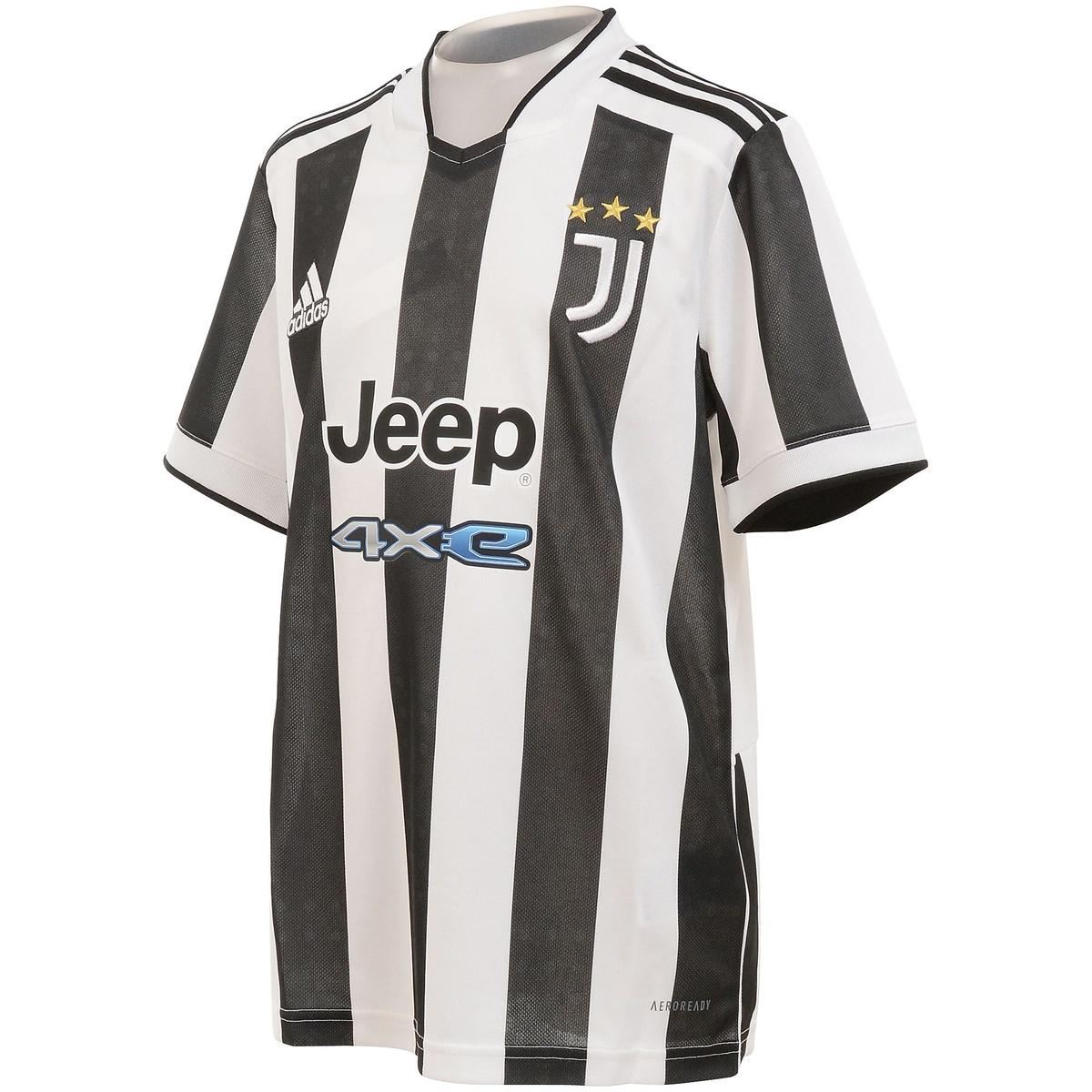 アディダス (人気激安) サッカー 海外クラブ ナショナルチーム ユベントス 21 22 ファクトリーアウトレット ホームユニフォーム Juventus Jersey ジュニア Home BH245 ホワイト GR0604 ブラック adidas