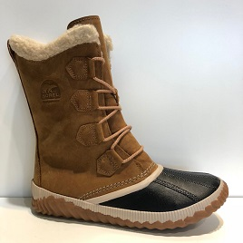 【SOREL ソレル】【OUT'N ABOUT PLUS TALL】【アウトアンドアバウトプラスソール】【NL3146】レディス レースアップブーツ 防水