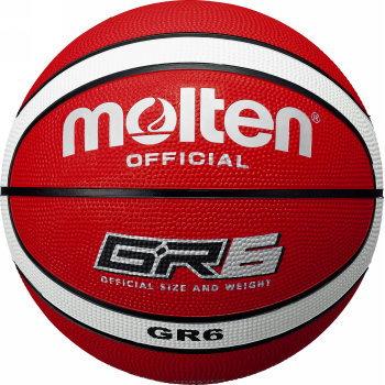送料無料 モルテン バスケットボール GR6 安値 ゴム6号 レッド 直営限定アウトレット あす楽対応 ホワイト