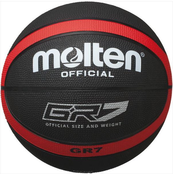 NEW モルテン バスケットボール GR7 ゴム7号 レッド あす楽対応 ブラック 特価キャンペーン