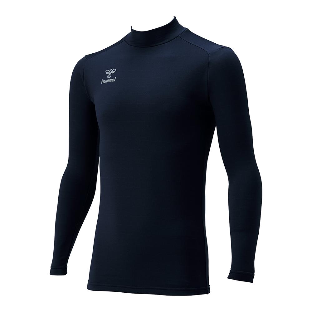 数量限定アウトレット最安価格 あす楽対応 ヒュンメル メーカー直売 あったかインナーシャツ HAP5152 コンプレッション ネイビー アンダーシャツ