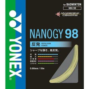 メール便対応 バドミントン ガット ヨネックス YONEX ストリングス バトミントン badminton 超激得SALE NBG98 NANOGY 推奨 98ナノジー98