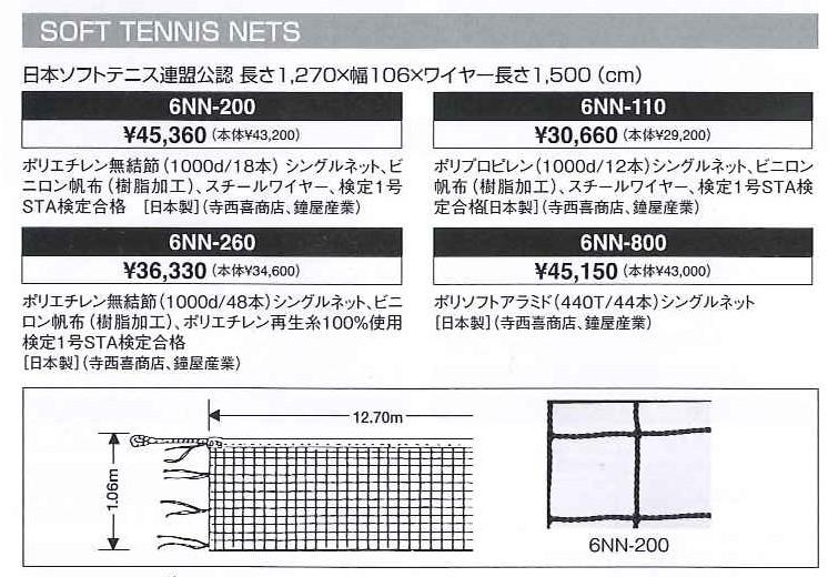 ミズノ MIZUNO ソフトテニス用 ネット 【軟式テニス】 日本ソフトテニス連盟公認(6NN800) 【テニス ネット】