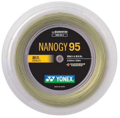 ヨネックス YONEX バドミントンガット・ストリングナノジー95 NANOGY95【ロール200m】【バドミントン ガットロール】バドミントン 2018SS