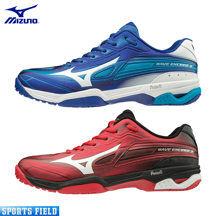 ミズノ ソフトテニスシューズ ウエーブエクシード 3 ワイド OC(61GB1913)3E相当 硬式テニス 軟式テニス シューズ ソフトテニス シューズ ミズノ テニスシューズ 靴 軽量 MIZUNO SOFT TENNIS SHOES