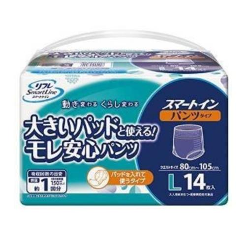 Livedo(リブドゥ) リフレ スマートライン スマートイン(パンツタイプ) Lサイズ 1ケース(14枚入x8袋)
