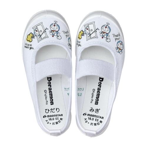 園児の小さな足に優しく作られた屋内用の上履きシューズです MoonStar ムーンスター 舗 キッズ 上履き DRMバレー01 Doraemon ホワイト シューズ I'm 信頼