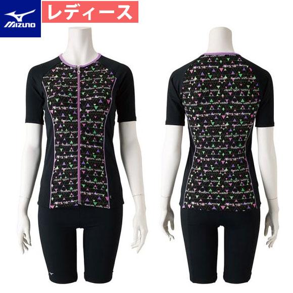 ミズノ(mizuno) レディース フィットネス 水着 セパレーツ ( 保温半袖 ) 水泳 スイムウェア
