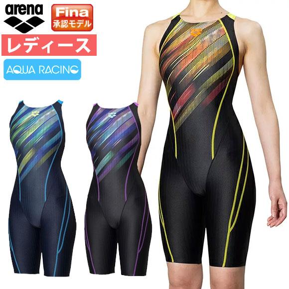 競泳水着 アリーナ Fina承認 レディース セイフリーバックスパッツ (着やストラップ) アクアレーシング FAR-9567W arena 水泳