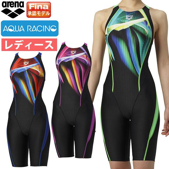 ■新時代フェア25%OFF■アリーナ ( arena ) レディース 競泳水着 Fina承認 ウロコスキンST ARN-9060W セイフリーバックスパッツ(着やストラップ) 水泳 競技水着