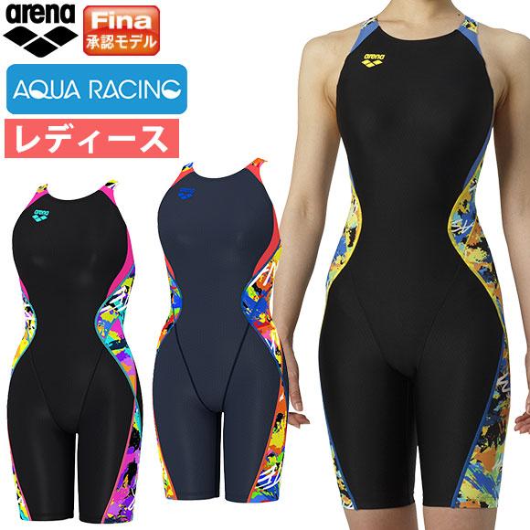 アリーナ ( arena ) レディース 競泳水着 Fina承認 ウロコスキン ARN-9064W セイフリーバックスパッツ (着やストラップ) 水泳 競技水着 2019年春夏モデル