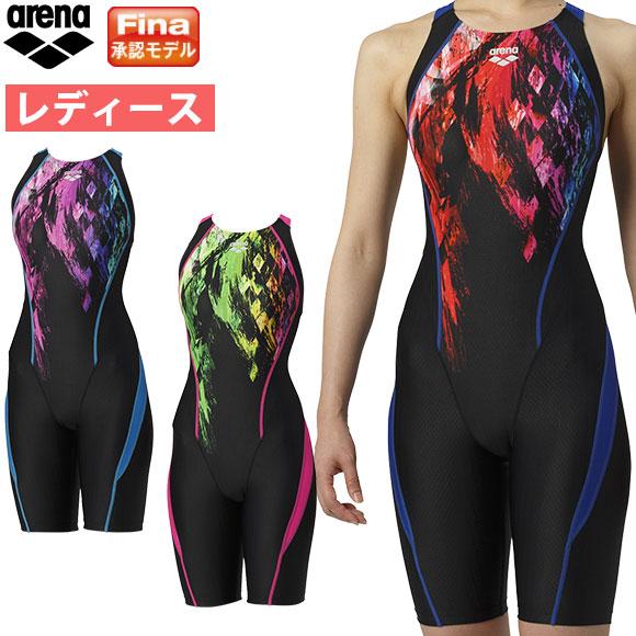 アリーナ ( arena ) レディース 競泳水着 Fina承認 セイフリーバックスパッツ(着やストラップ) ARN-9067W ウロコスキンST 水泳 競技水着 アクアレーシング