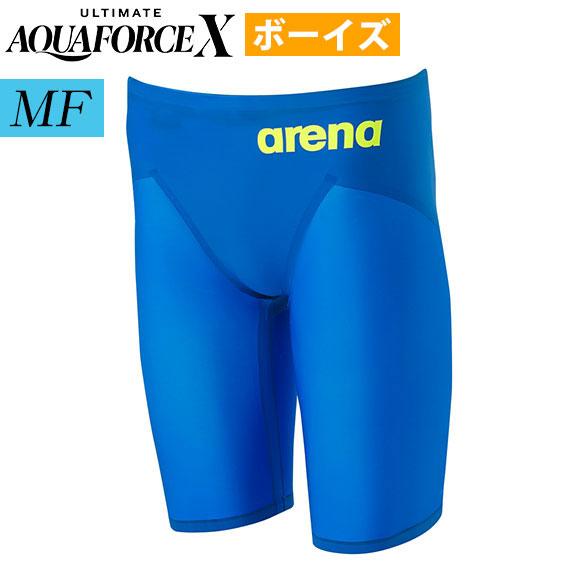 [今すぐ使える500円OFFクーポン!] アルティメット アクアフォース X エックス MF アリーナ arena 上級者用 ボーイズ 競泳水着 FINA承認 男子 ハーフスパッツ ARN-0003M SBLU 高速水着 返品交換不可