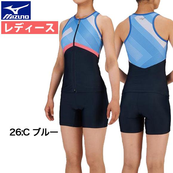 ミズノ (mizuno) レディース フィットネス 水着 アクアフィットネス用 セパレーツ(3分丈) N2JG9385 水泳 セパレート