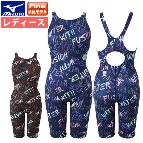 62e6073c609 ミズノ(mizuno)レディース競泳水着Fina承認ハーフスーツ(オープン)N2MG9251ストリーム
