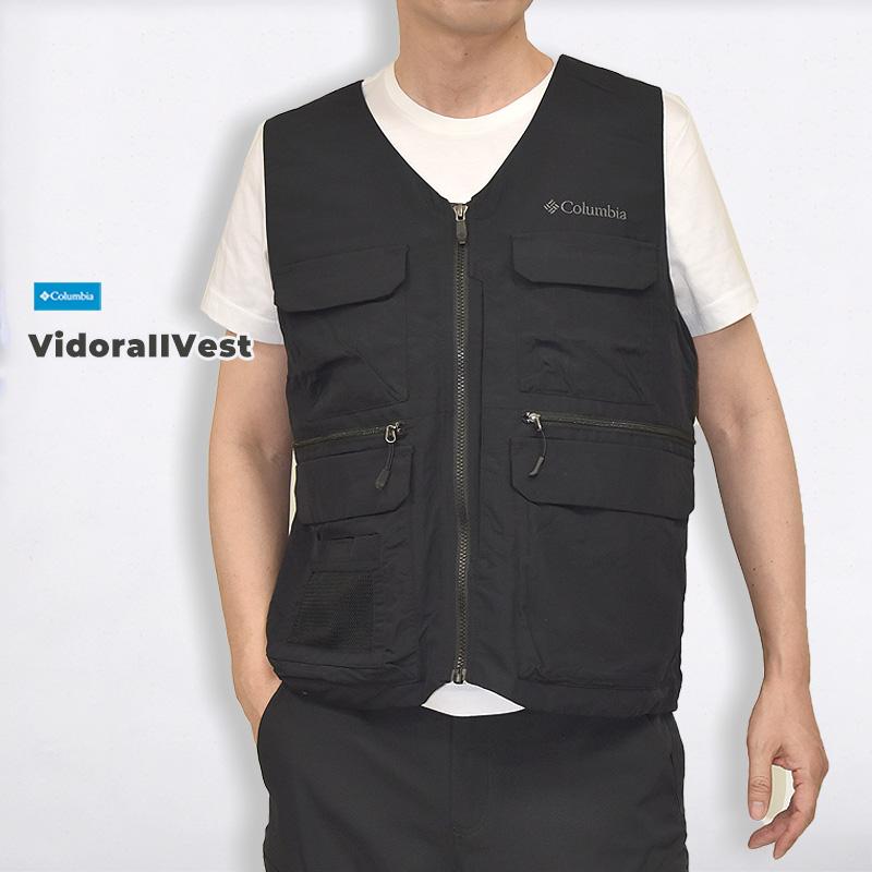 Vidora 受賞店 II 期間限定で特別価格 Vest ブラック コロンビア columbia メンズ アウトドア レジャー 山 カジュアル 010 トレッキング トップス ファッション PM3439 ベスト ウエア 黒 スポーツ ヴィドラ