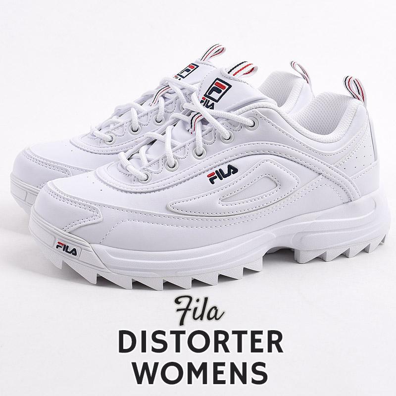 ダッドシューズ 厚底 ホワイト 大特価 フィラ FILA スニーカー レディース カジュアル シューズ 靴 F5170 ストリート アイテム勢ぞろい ファッション ウィメンズ 0125 ディストーター 白