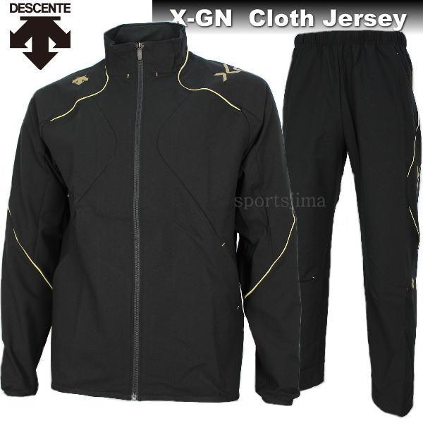 独特な DESCENTE デサント X-GN ストレッチ クロス ジャージ ジャケット パンツ 上下 DBX1400 DBX1400P BKSG ブラック×ゴールド, あったらいーな本舗 26cfde81