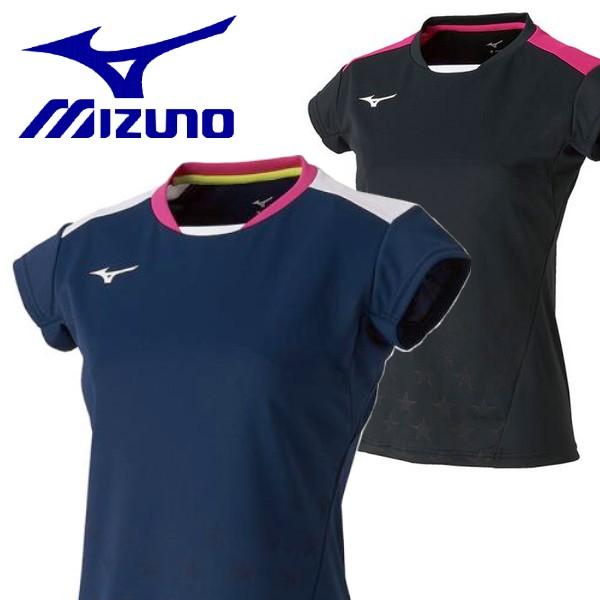 倉 売れ筋 ミズノ テニス ソフトテニスウェア バドミントンウェア MIZUNO レディース 半袖ゲームシャツ ソフトテニス バドミントン ユニホーム ウェア