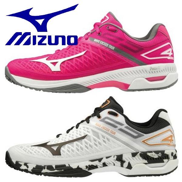 MIZUNO ミズノ テニスシューズ ウエーブエクシード ツアー 4 OC クレー・砂入り人工芝コート用 61GB2072