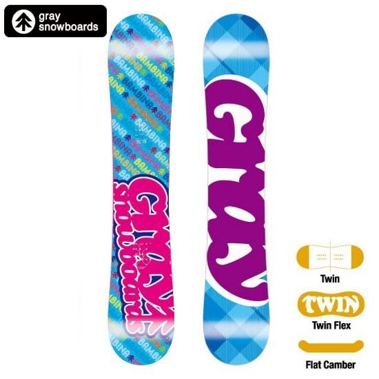 【最終値引き★】 Banbina - バンビーナ Flat 143 【GRAY-グレイ】 11/12 スノーボード用品/スノーボード/板