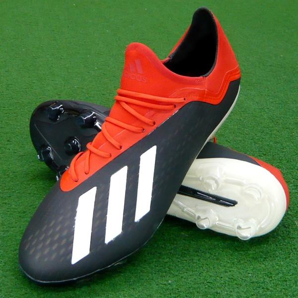 【即発送・あす楽対応】 エックス 18.2-ジャパン HG/AG ブラック×ホワイト×レッド 【adidas-アディダス】 サッカースパイク/サッカーシューズ