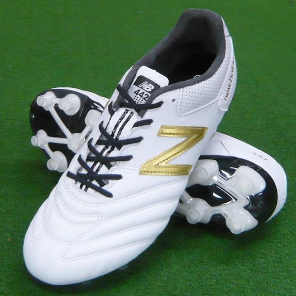 【新ラスト採用】 442 PRO HG (2E) ホワイト×ゴールド 【New Balance-ニューバランス】 サッカースパイク/サッカーシューズ