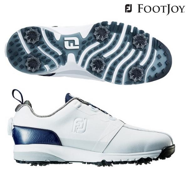【超人気モデル】 FJ ULTRA FIT - ウルトラフィット 日本正規品 ホワイト/ネイビー 【FOOTJOY-フットジョイ】 メンズゴルフシューズ