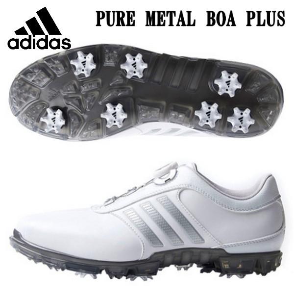 adidas アディダス ゴルフシューズ ピュアメタル ボア プラス
